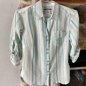 Women's Columbia Button Up/Down Shirt, Medium